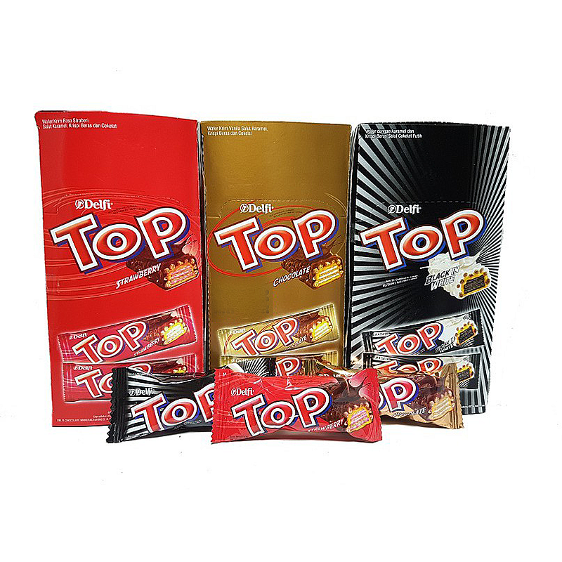 Coklat TOP Delfi 1 PAK Cokelat Top Wafer Chocolate Delfi Top Delfi Coklat Wafer Delfi Original