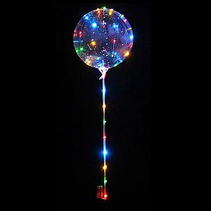 BALON LED Balon Lampu Tumblr Balon Hias Balon Dekorasi Wedding Balon Transparan Bening (100gr)