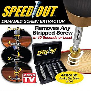 OBENG PEMBUKA BAUT Speed Out Damage Screw Extractor Buka Baut Rusak Mata Obeng Set Tukang (300gr)