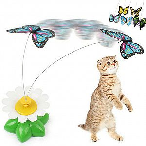 Mainan Kucing Kupu-Kupu Elektrik Cat Toy Butterfly Pet Toys Kupu Kupu