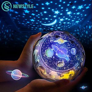 Lampu Proyektor Bumi Langit LED Night Light Rotate Earth Constellation #7RLL0XBK
